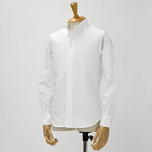 INDIVIDUALIZED SHIRTS×RESOLUTE白ボタンダウンオックスフォードシャツ