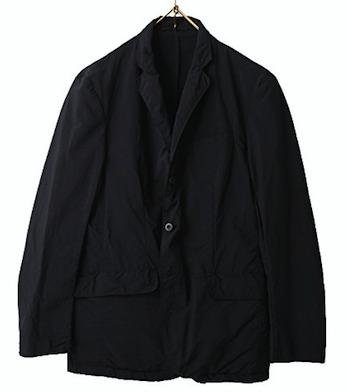 テアトラteatraナイロンテーラードジャケット黒