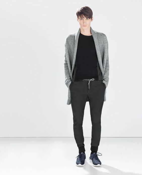 スウェットパンツメンズファッションコーデZARA