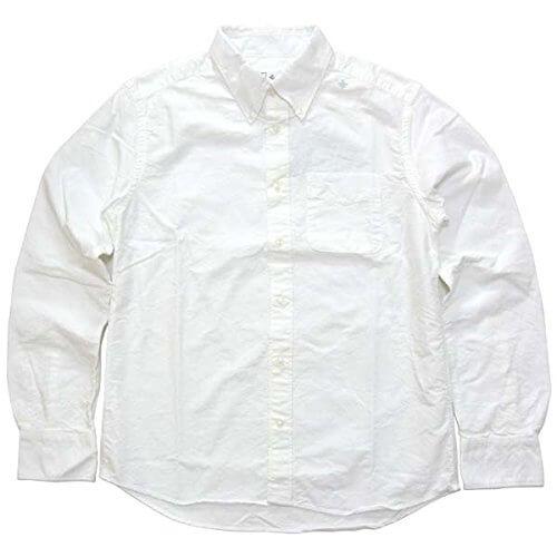 スウィープの白コットンリネンシャツ