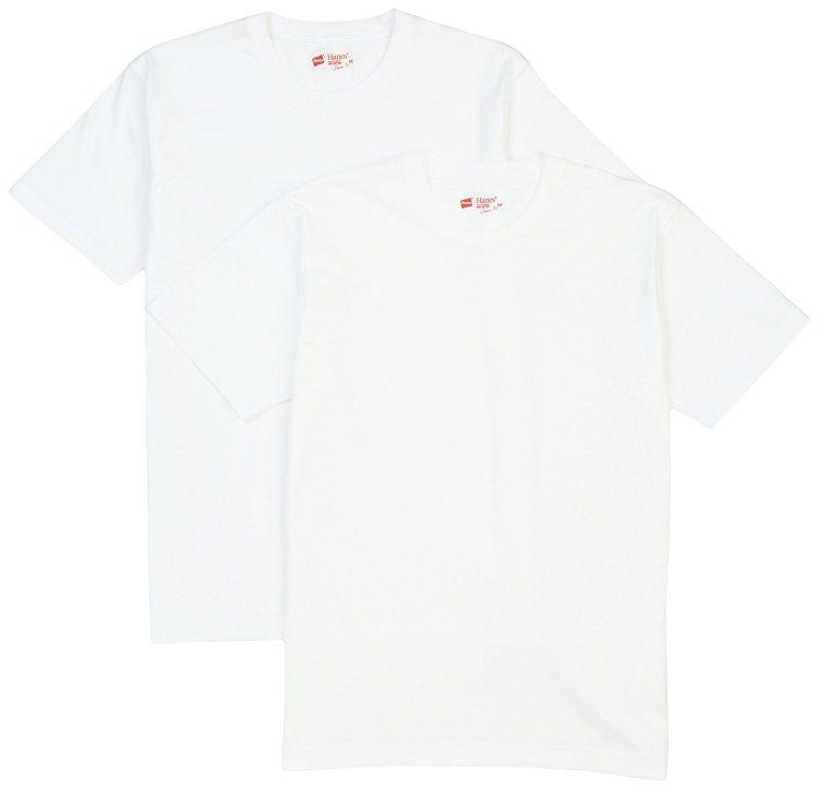hanesヘインズ白Tシャツ,japan fit,ジャパンフィット