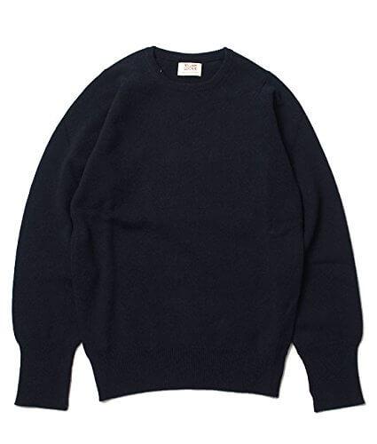(ウィリアムロッキー) WILLIAM LOCKIE CREW NECK SWEATER – NAVY クルーネックセーター