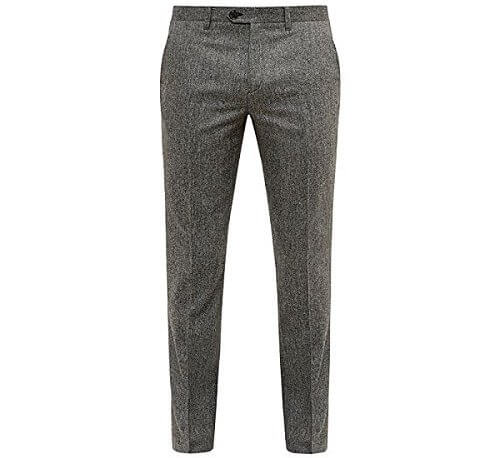Ted Baker(テッドベーカー) Cramtro Herringbone Wool Trous Grey