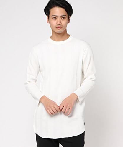AMERICAN RAG CIE(アメリカンラグシー)  ロング丈 ランダムワッフル Tシャツ