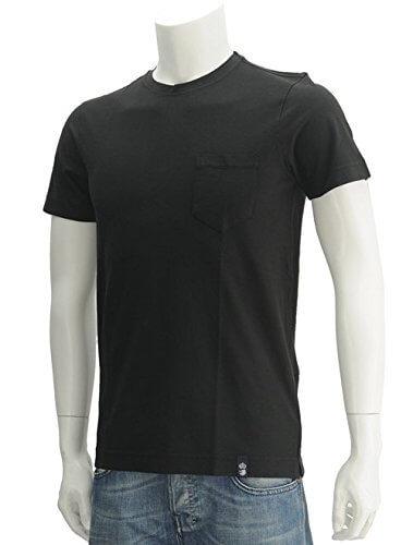 Drumohr(ドルモア) コットンクルーネックTシャツ ブラック