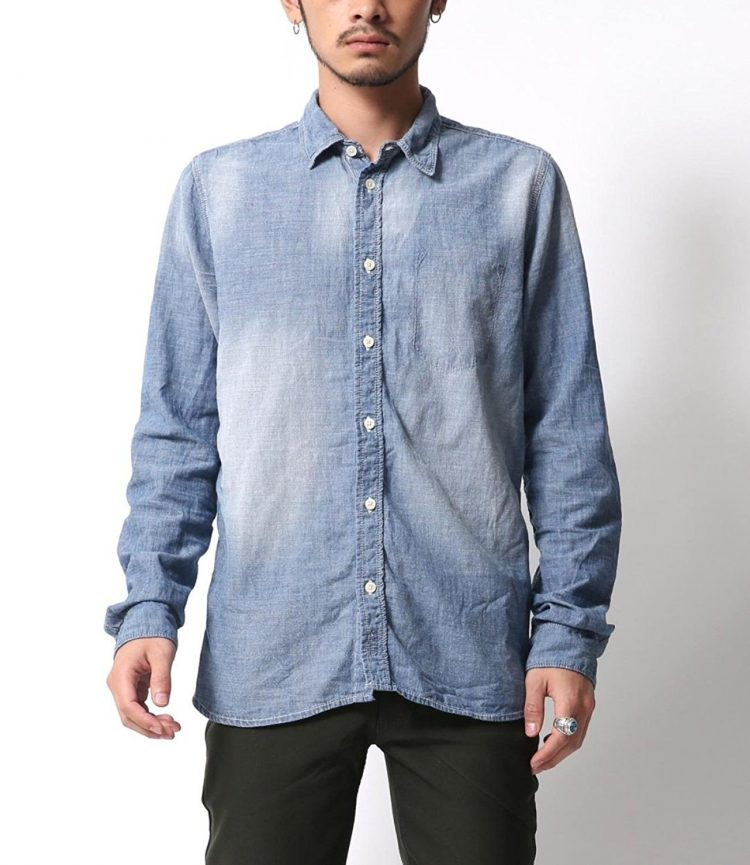 Nudie Jeans(ヌーディージーンズ)HENRY WORN CHAMBRAY DENIM