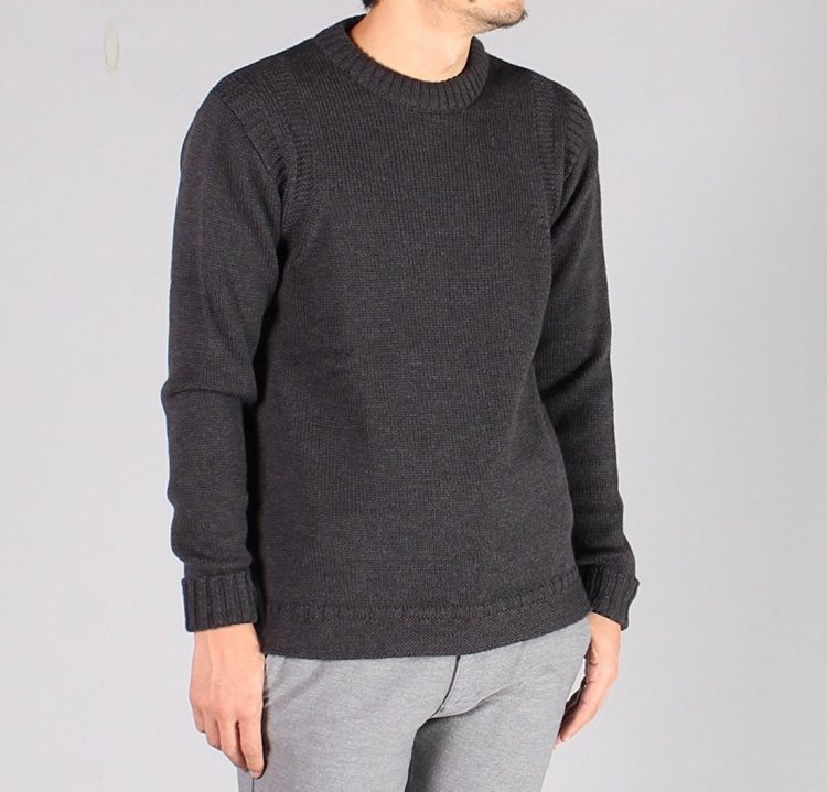 WILLIAM LOCKIE(ウィリアム ロッキー) MERINO WOOL GUERNSEY CREW SWEATER