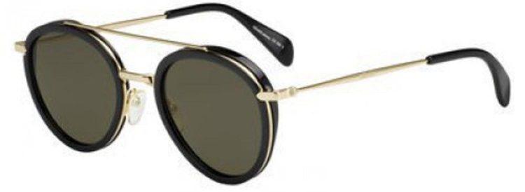 Celine Black Gold 41424S Round Sunglasse