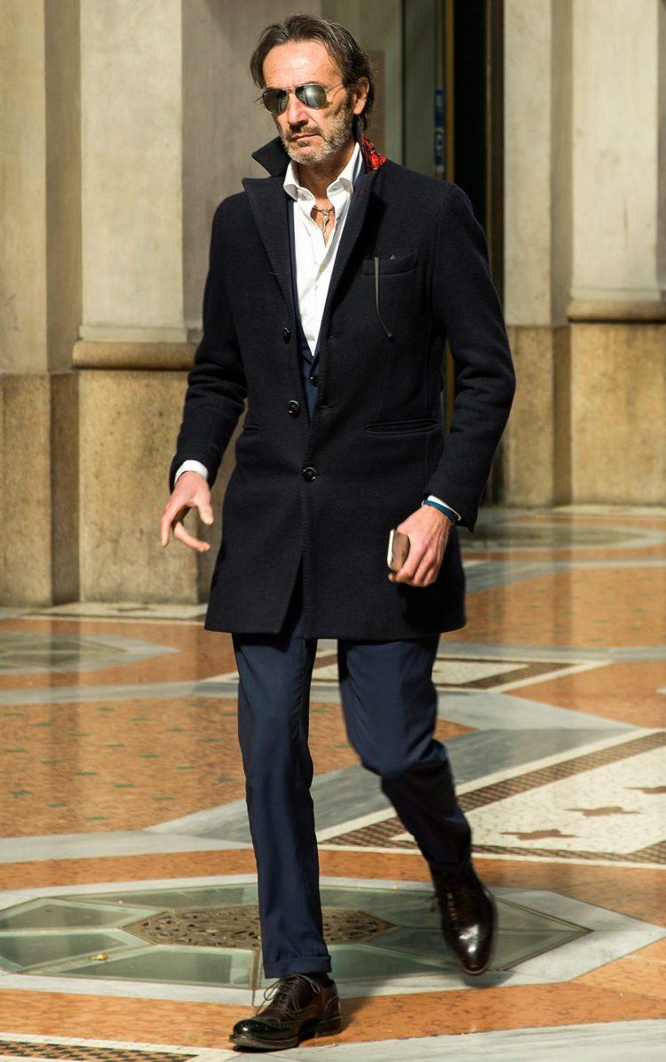 チェスターコート,スーツ,シャツ,