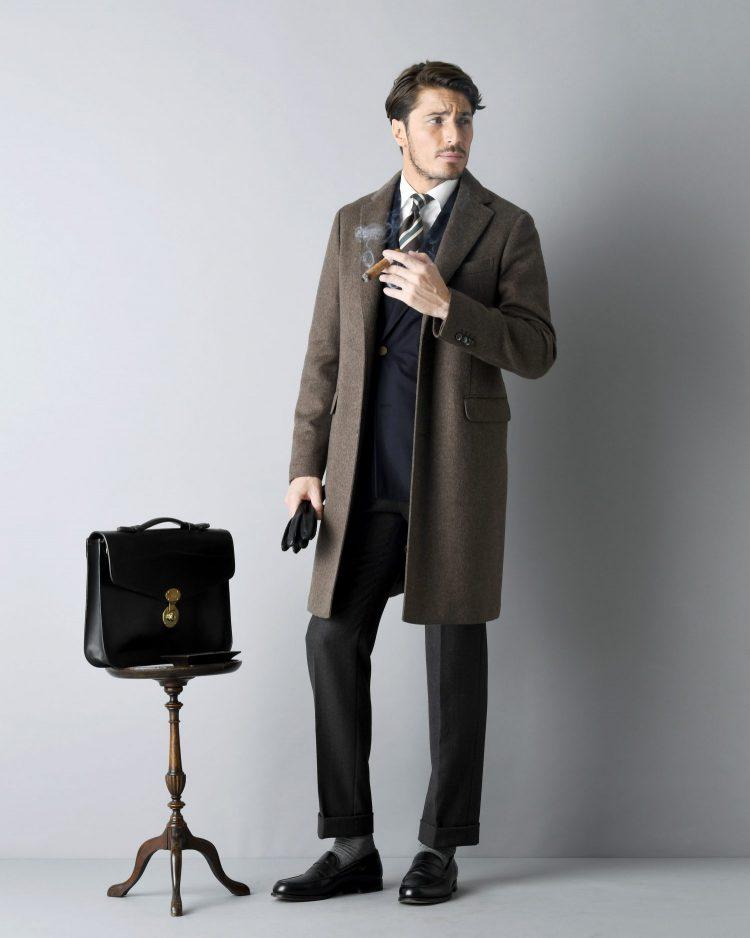 冬服,コート,スーツ,革靴