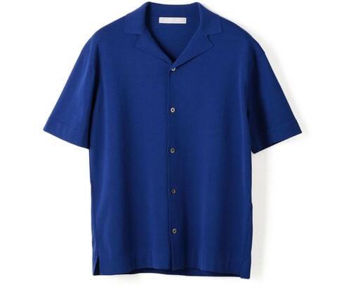 ESTNATION(エストネーション) ウォッシャブル半袖ニットシャツ