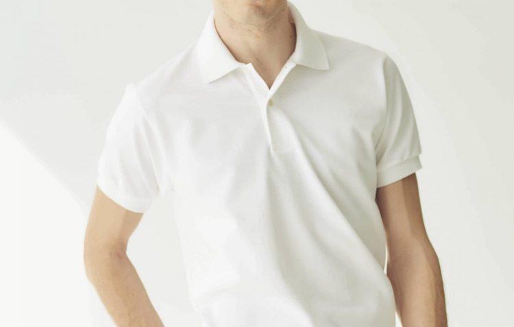 ポロシャツのフロント