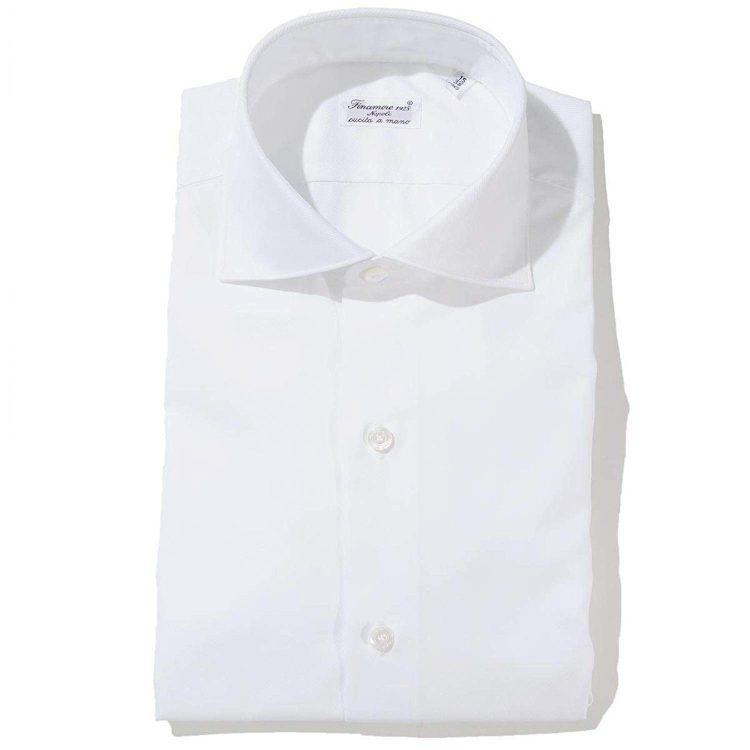 FINAMORE(フィナモレ) ホリゾンタルカラーシャツ