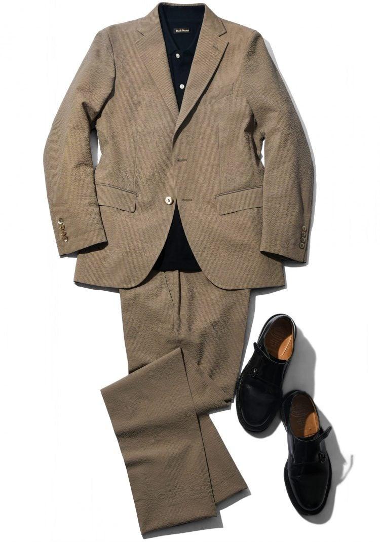 魅力①クールビズはもちろん、休日デートもお任せあれ!モダンベーシックなサマースーツなら汎用性抜群。