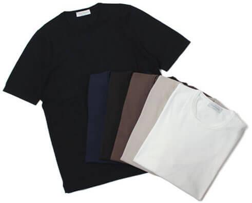 GRANSASSO(グランサッソ) 黒ニットTシャツ