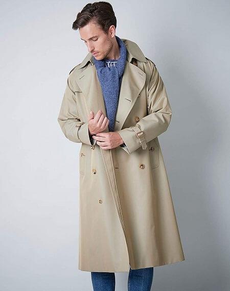 トレンチコートのおすすめ王道モデル④「SANYO(サンヨー) 100年コート」