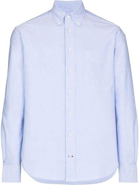 たとえば、こんな無地のシンプルシャツ…「Gitman Vintage(ギットマン ヴィンテージ) ボタンダウンシャツ」